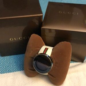 Unisex I-Gucci Collection White Rubber Strap Watch